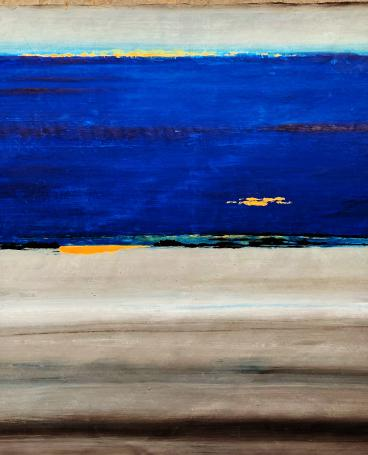 Abstract night seascape