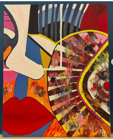 Abstrait Art face