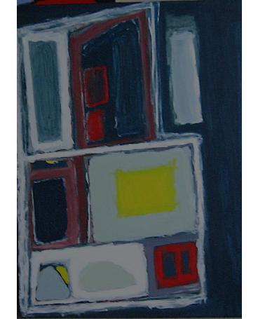 DEEP FREEZE TWO, acrylic on canvas.