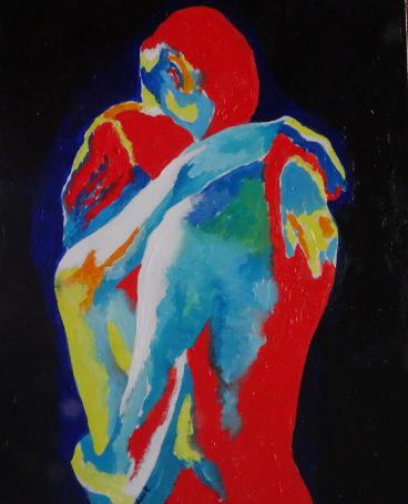 Original Oil Painting Mature Content nude female act naked