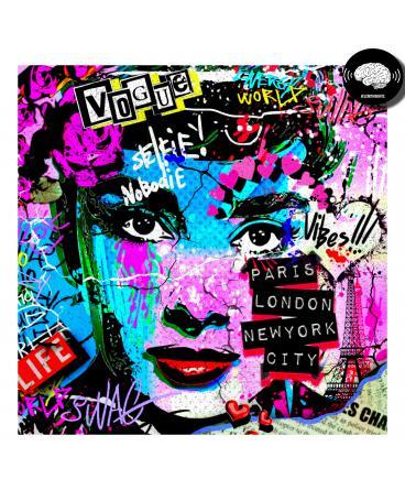 Audrey Hepburn Digital Pop Art Print.