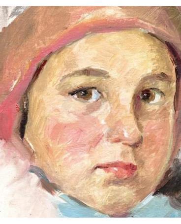 """portrait of a girl."" fragment"