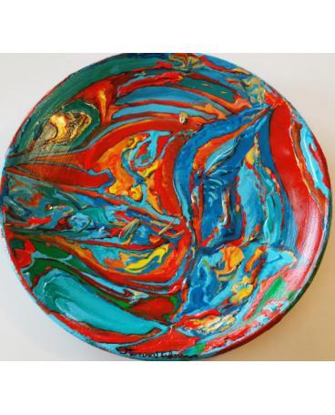 Cortona terracotta plate